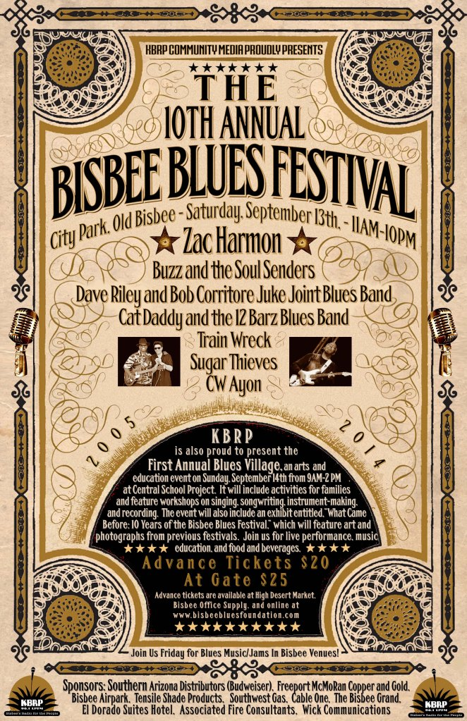 A2014Sept13Bisbee Blues Poster 2