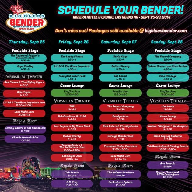 Bender Schedule